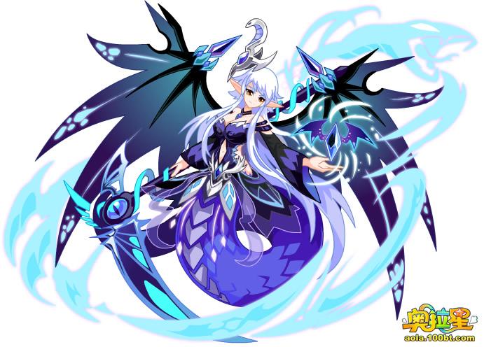 奥拉星传奇暗翼女神图片 传奇暗翼女神高清大图