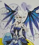 奥拉星奥拉星手绘 暗翼女神同人
