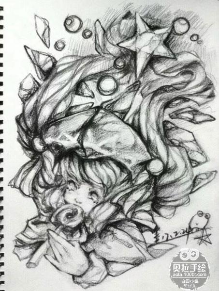 奥拉星手绘 天机少女