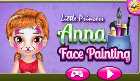 小安娜脸部彩绘