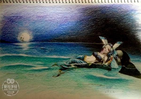 奥拉星手绘 寒冰公主同人