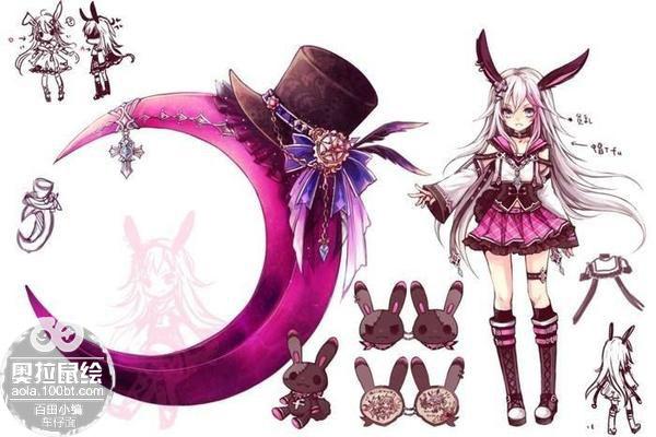 奥拉星鼠绘 紫月萌兔