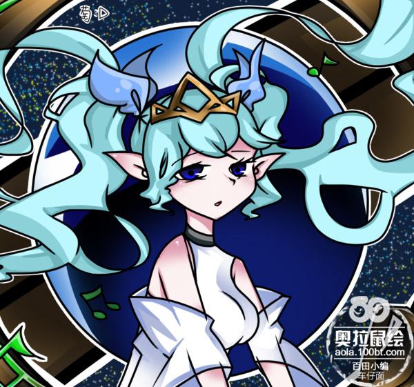 奥拉星板绘 地球女神同人