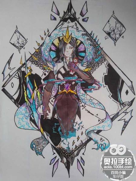 奥拉星板绘 传奇雷帝神拟人