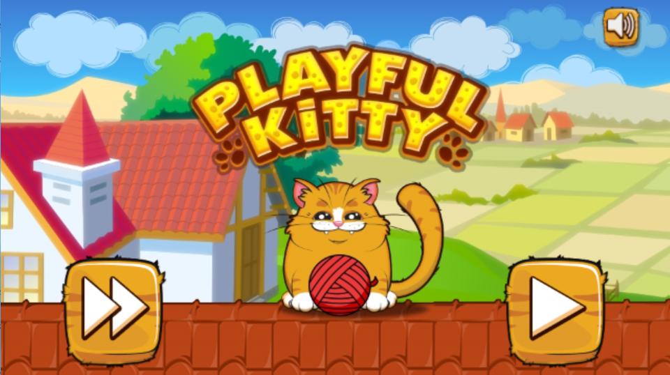 萌猫玩毛线球