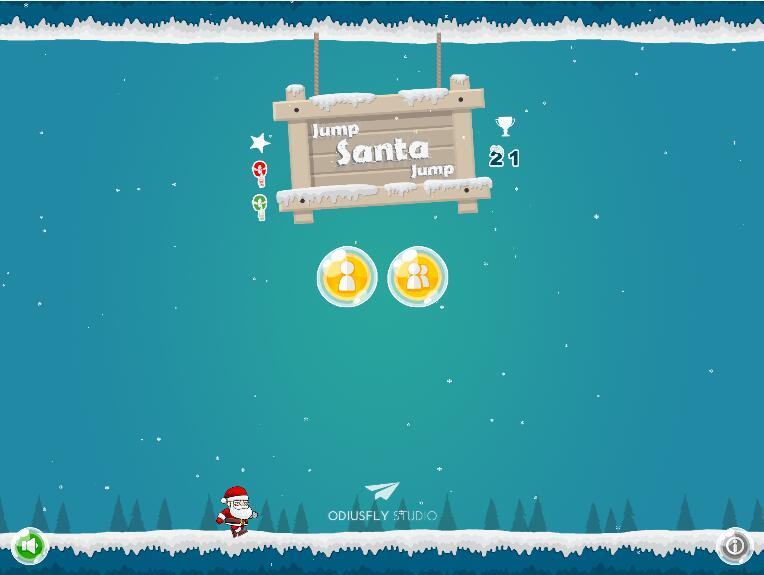 跳跃的圣诞老人