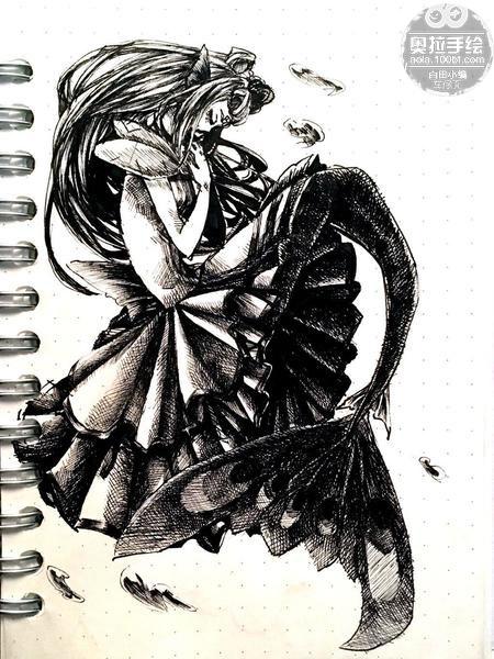 奥拉星手绘 手绘白京京
