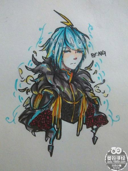 奥拉星手绘 黑王子