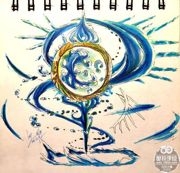 奥拉星手绘 梅卡的水源之力