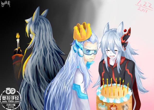 奥拉星手绘 老师的生日