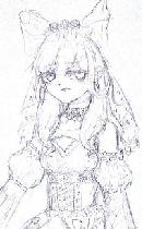 【半身线稿】lolita