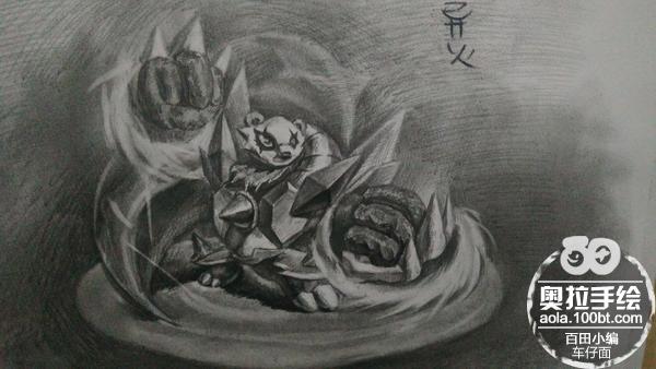 奥拉星手绘 斗士豪达