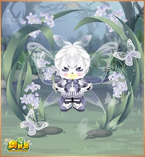 奥比岛花语蝴蝶装