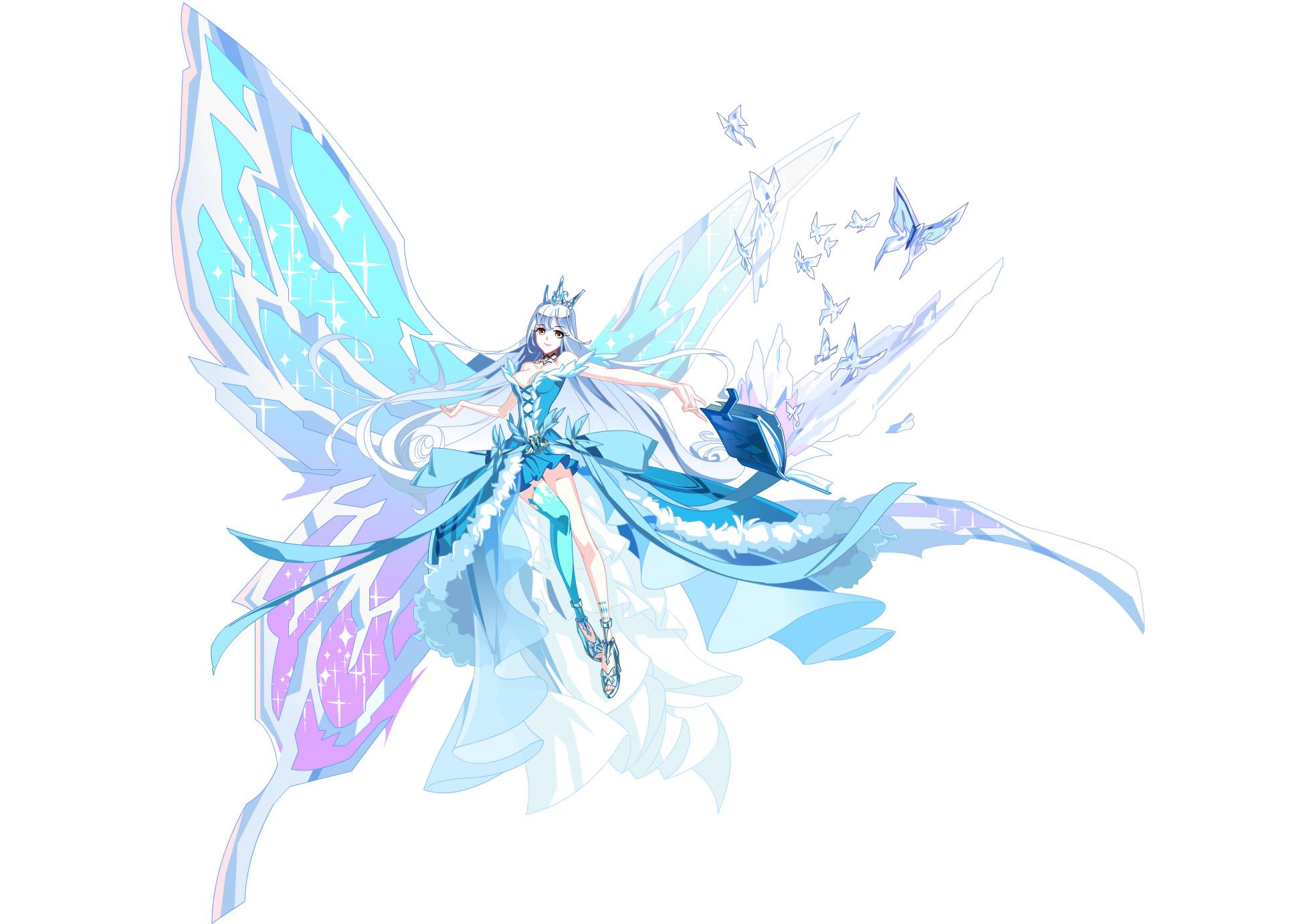 冰雪女神传_一位圣洁高雅的女神,身边总围绕着由冰雪幻化而成的蝴蝶,美丽的面容