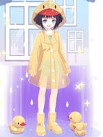 彩虹雨套装