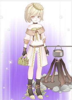 野营少女迷彩服