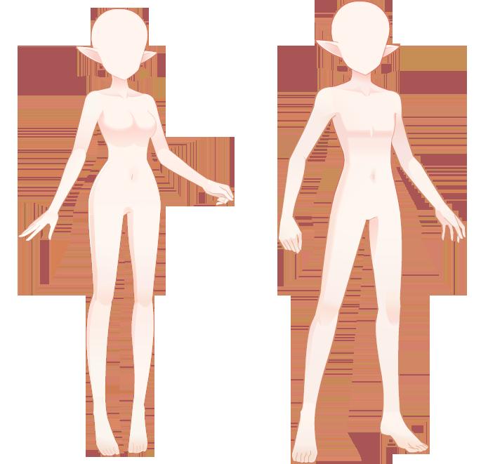 奥拉星设计大赛服装人模下载