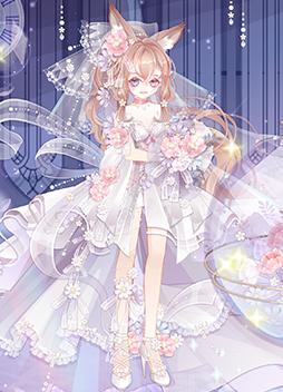 纯白花嫁套装