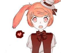 卡哇伊的一只兔子