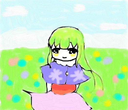 原创-草原中的女孩-鼠绘-初次发布,下次弄眉兔好了