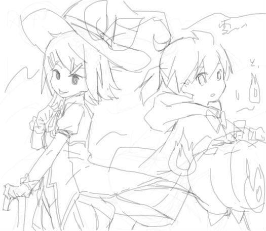 偶尔画画双子_(:3