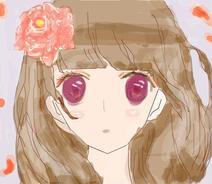 描摹  粉红少女