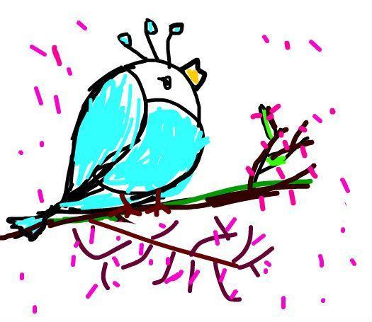站在梅花树上的小鸟