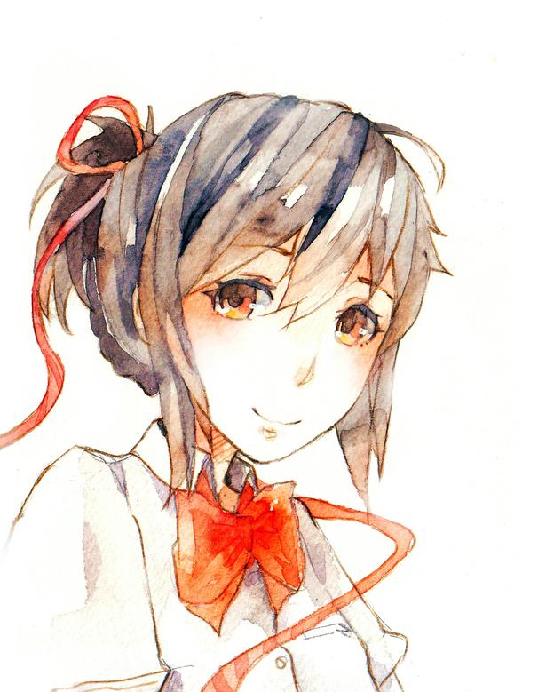 【枭】美丽的水彩绘头像