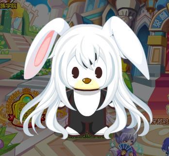 兔耳白长发