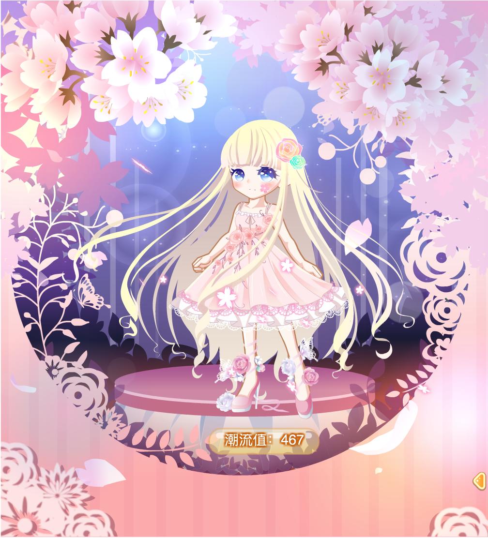 【搭配解析】:这次搭配的是一个穿戴着各种各样花朵的少女,微风轻拂着少女的头发,被吹落的花瓣,就跟少女一样,绽放的时候就注定了死亡,深夜的时候,少女在花丛中,感叹着飞花如雨的光阴,蝴蝶围绕着她,粉玫瑰花园的裙子显现出了少女对这个世界的憧憬,甜甜樱桃的头饰增添了唯美,然后就是并没有加手持啊,没有合适的啊,如果加了就会显得很乱然后很玛丽苏,也不太适合这个搭配啊哈,头饰也没有那么多,比较简约,也就两朵玫瑰,那个绿色实在有些突兀,不过其它头饰搭配起来也不好看,这个搭配也没加袜子,这种搭配我很少加袜子(因为懒),脸