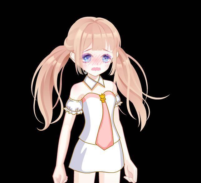 嫩妹妹成人动漫_脸红到想哭的小妹妹,紫蓝色的眼睛为整个表情拉高了不少颜值,再加上肥