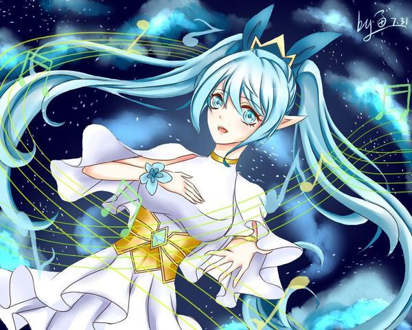 奥拉星板绘 地球女神