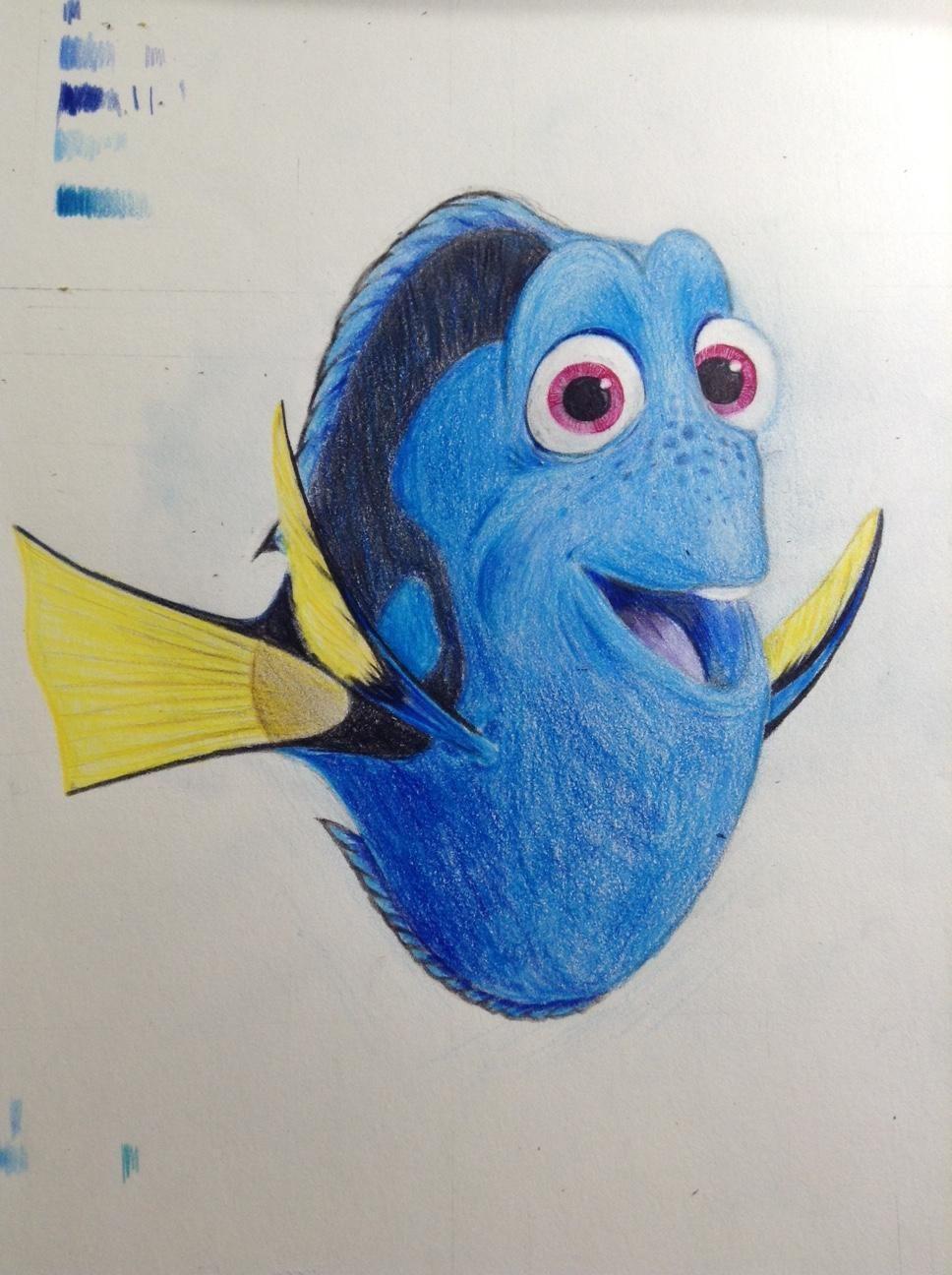 2  dory=海底总动员-多莉(彩铅)