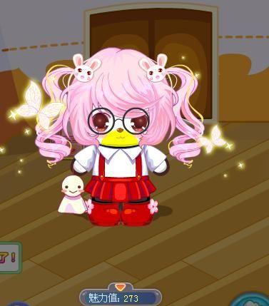 可爱的兔子可爱的蝴蝶可爱的晴天娃娃