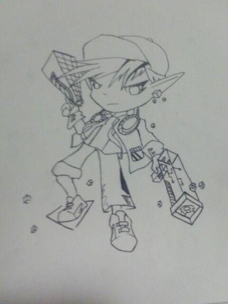 电玩小子简笔画教学