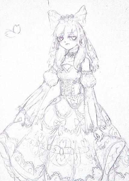 lolita【半身线稿】