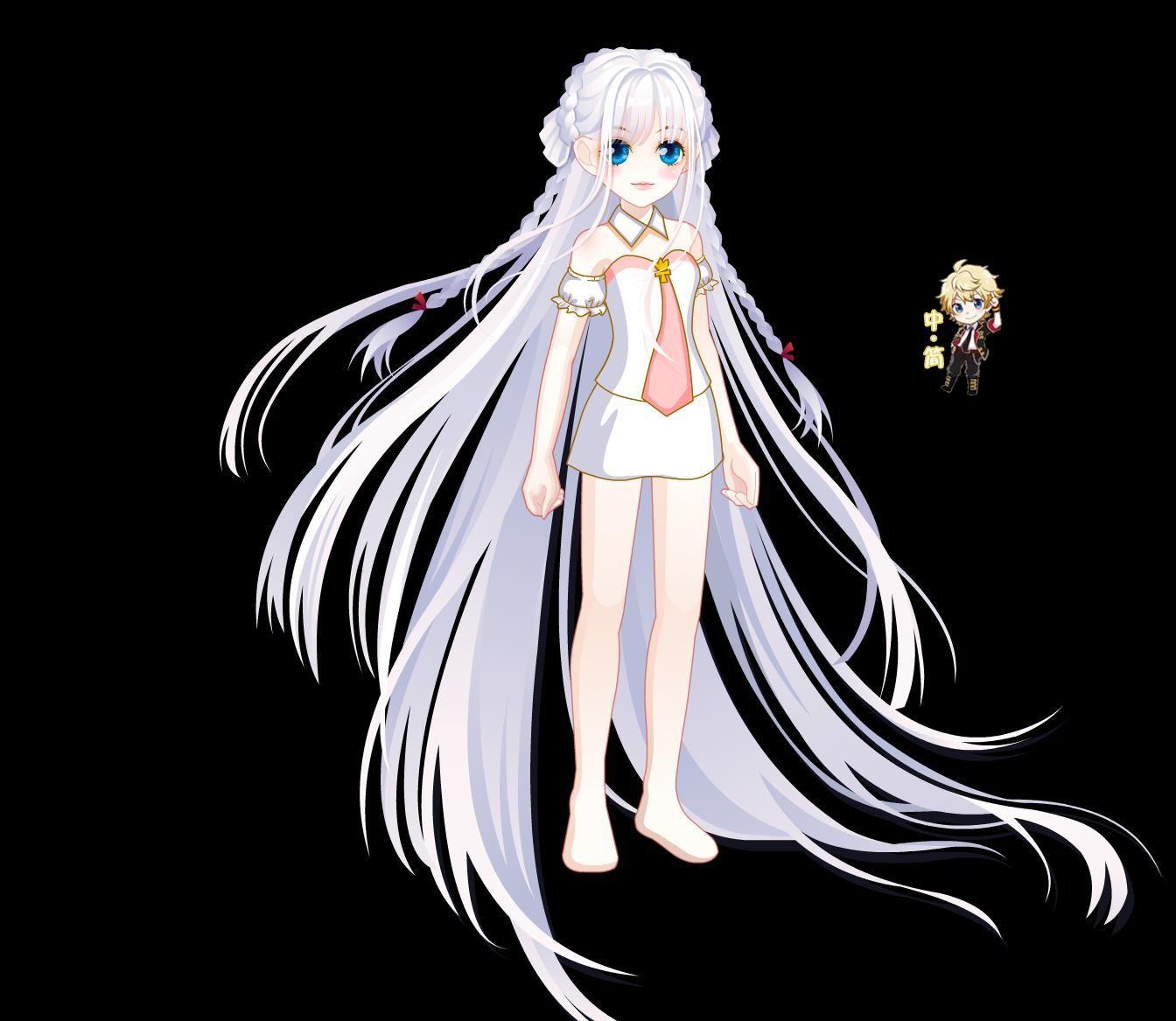 解析:白色的古风头发,头发随风飘扬,棱角(?