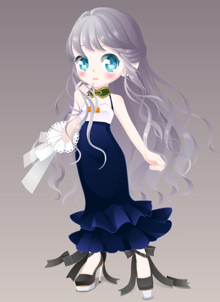 奥比岛史上最简洁的一条鱼尾裙 却是非常百搭 无不凸显我小奥比人模的