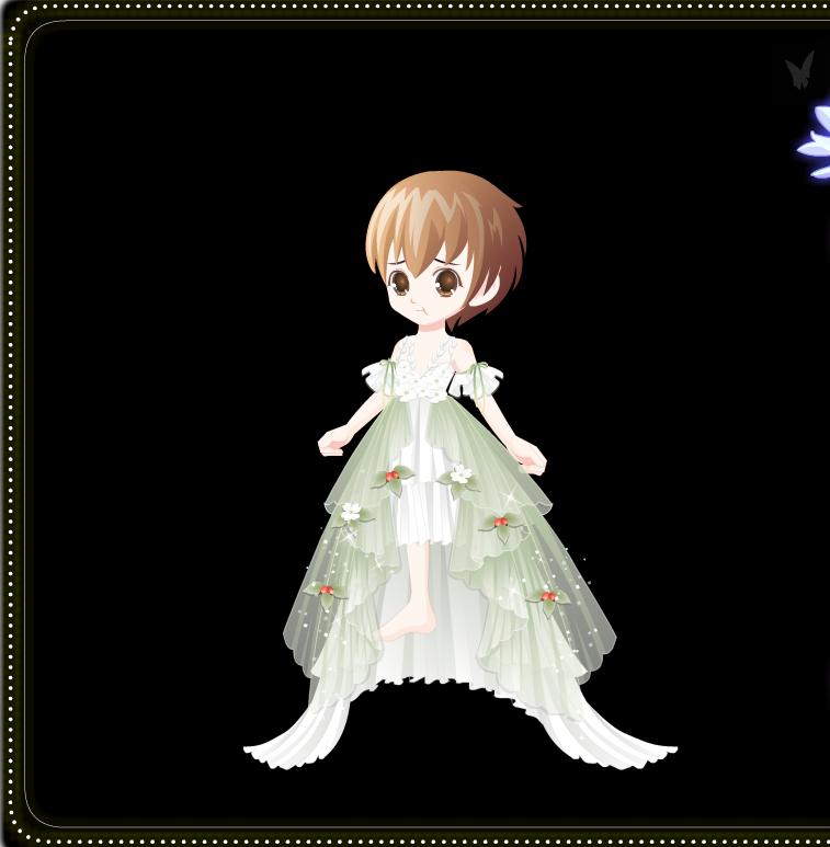 奥比岛的一件精致小裙纸的搭配鸭